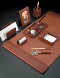 Brown Leather Desk Accessories Leather Blotters Leather Desk Blotters Personalized Desk Pads