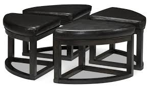 coffee table with four ottoman wedge stools coffee table modern line furniture commercial custom made coffee