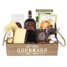 Wine And Cheese Gifts Wine U0027n Cheese Crate Gift Basket The Gift Designers