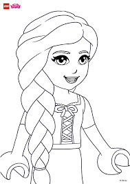 coloring fun with rapunzel u0027s beautiful hair coloring page