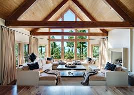 Living Room Ceiling Beams 25 Modern Interiors With Exposed Ceiling Beams