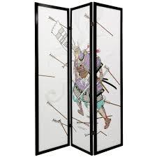 6 panel room divider oriental furniture 6 ft tall samurai shoji screen 3 panel ebay