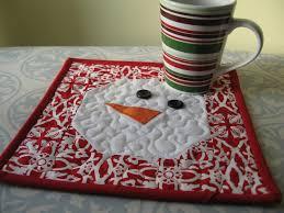 Snowman Rug Not So Plain Jane Snowman Mug Rug Tutorial
