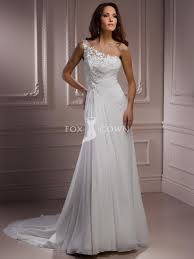 one shoulder wedding dress one shoulder a line wedding dress with lace bodice wedding
