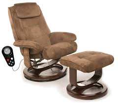 furniture surprising modern recliner chair with ottoman and beige