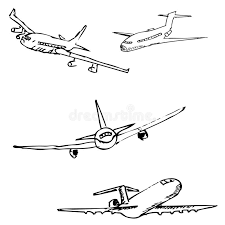 aircraft pencil sketch by hand stock vector image 80843706