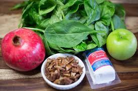 thanksgiving menu spinach salad artzy foodie