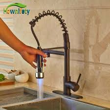 rubbed bronze kitchen faucets 3 color changing rubbed bronze kitchen sink faucet pull