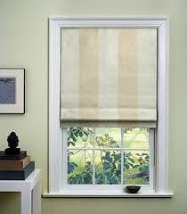 Where To Buy Roman Shades - outside mount flat roman shade with inset banding over inside