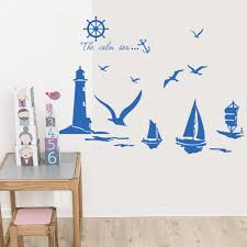 lighthouse home decor vinyl wall stickers home decor sailboat lighthouse seagull wall