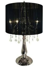 Chandalier Table Lamp Vintage Mid Century Gothic Brass Glass Panels Retro Hanging Swag
