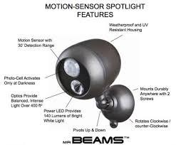 mr beams security lights mr beams mb360 wireless led seciruty spotlight with motion sensor