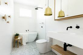 White Bathroom Lights by Bathroom White Bathroom With Gold Color Also Lamp Shade