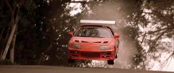 toyota supra fast and furious image brian u0027s supra road jump jpg the fast and the furious
