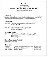 sample resume format job college secondary acting special skills