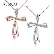 christian jewelry store aliexpress buy meekcat rhinestone cross necklace