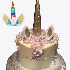 unicorn cake topper aliexpress buy 14cm gold silver unicorn horns cake topper