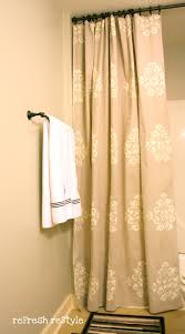 painted shower curtain refresh restyle save