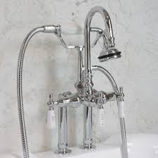 Handheld Bathtub Faucet Edwardian Wall Mount Tub Faucet In Chrome