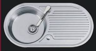 Oboe Round Bowl And Drainer Inset Kitchen Sink - Round sink kitchen