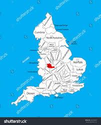 vector map west midlands county west stock vector 325220825
