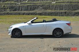 lexus is350 convertible 2013 lexus is 250 c f sport review video performancedrive