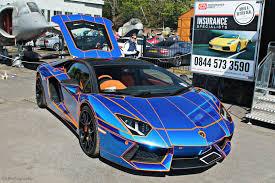 Lamborghini Aventador Chrome - lamborghini aventador lp700 4 chrome blue tuning supercars