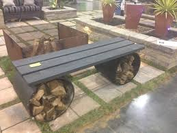 Firepit Bench Wood Pit Benches Design And Ideas
