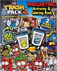trash pack mucky activity coloring trashpack toys parragon