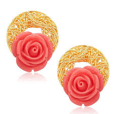gold plated earrings buy sukkhi classic gold plated earrings for women online at low