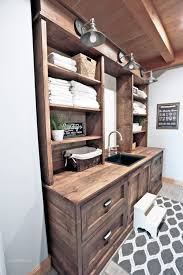 Laundry Room Cabinets With Sinks White Rustic Laundry Room Cabinet With Hutch Diy Projects