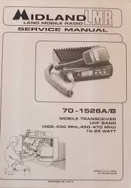 midland 70 1526a b mobile transceiver service manual 70 152600