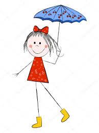 with umbrella u2014 stock vector huhli13 5736781