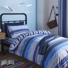 Dunelm Mill Duvet Covers Ollie Blue Stripe Duvet Cover Set Dunelm