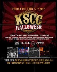 toronto halloween king street club crawl dj toronto on live