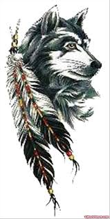 feathers and wolf design viewer com