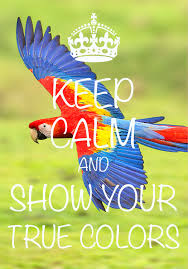 keep calm and show your true colors created with keep calm and