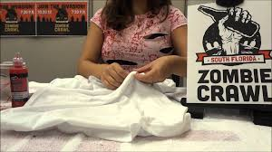 Halloween Shirts Women How To Make A Zombie Shirt Costume Youtube