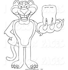 vector coloring page of a coloring page outline of a panther
