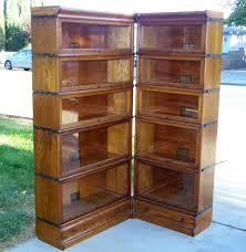 Bookcase Corner Unit 25 3 4 Size Globe Wernicke Bookcase Corner Unit Antique Lawyer