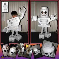 Figured Halloween Costumes Lego Skeleton Mini Figure Diy Halloween Costume Photo 3 3