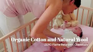 Serta Organic Crib Mattress by My Green Mattress Our All Natural Emily Crib Mattress Youtube