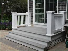 Back Porch Stairs Design Jamestown Stairway Railing Secure And Stylish Without Pretention