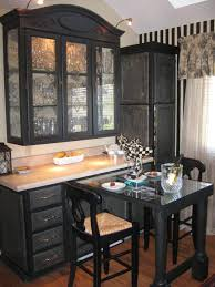 Black Painted Kitchen Cabinets Country Rooms With Painted Black Furniture