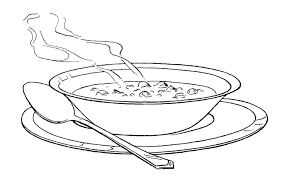 one serving of warm soup coloring pages one serving of warm soup