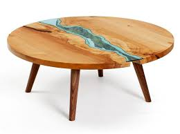 topography coffee table table topography wood furniture embedded glass rivers lakes
