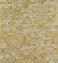 Honey Onyx X Brick Pattern Polished Mosaics Meshed On  X - No grout tile backsplash