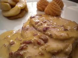 cuisiner le roti de porc rôti de porc au cidre et aux lardons pommes fondantes au miel les