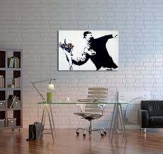 banksy flower thrower canvas wall art travel music photography pop art sci fi posters triptychs vintage sci fi movies vintage signs posters vintage war posters zodiac signs by genre