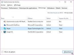skype bureau windows windows 10 ne pas lancer skype au démarrage de windows médiaforma